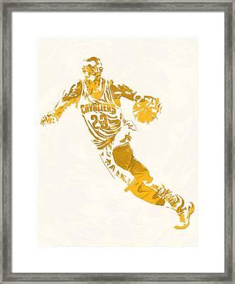 Lebron James Cleveland Cavaliers Pixel Art 10 Framed Print