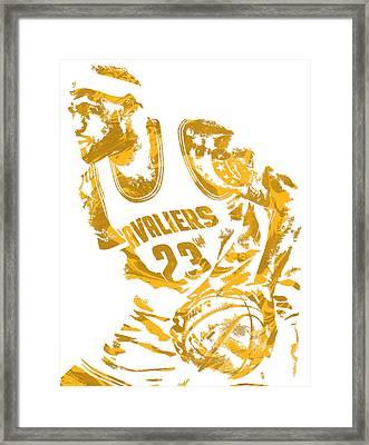 Lebron James Cleveland Cavaliers Pixel Art 7 Framed Print