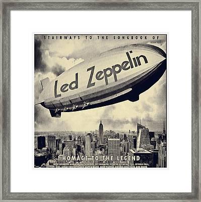 Led Zeppline - Vintage Art Framed Print