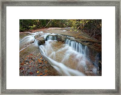 Ledge Brook - White Mountains New Hampshire Usa Framed Print by Erin Paul Donovan