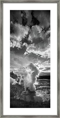 Ledge Geyser Yellowstone N P Framed Print