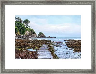 Lee Bay - England Framed Print by Joana Kruse