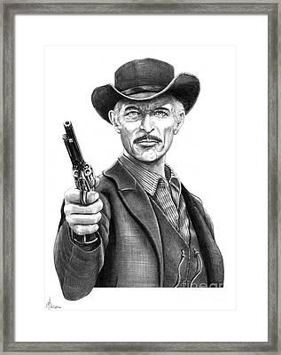 Lee Van Cleef Framed Print by Murphy Elliott