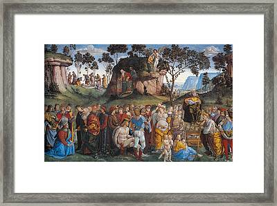 Legacy And Death Of Moses Framed Print by Luca Signorelli