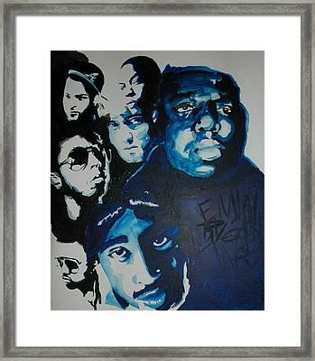 Legends Together Framed Print
