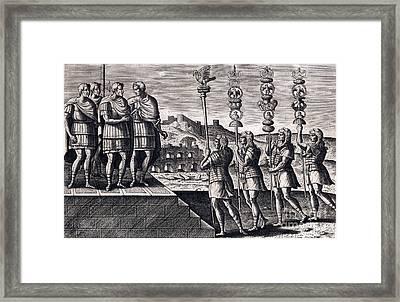 Legion Standards, Ancient Roman Warfare Framed Print