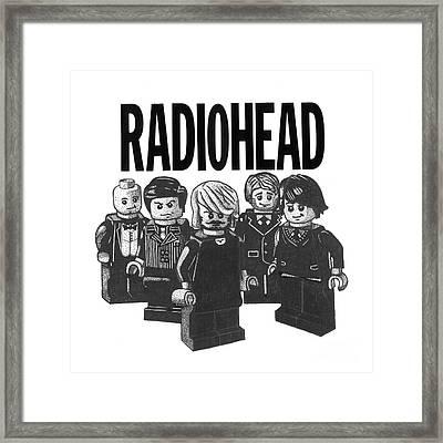 Lego Radiohead Framed Print by Mark Richardson