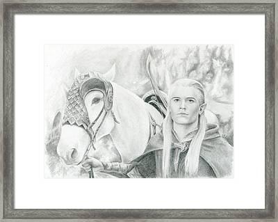 Legolas Greenleaf Framed Print by Bitten Kari