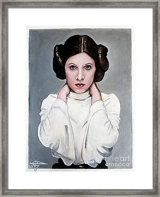 Leia Framed Print by Tom Carlton