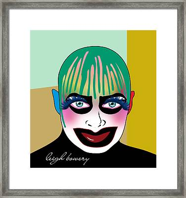 Leigh Bowery 5 Framed Print by Mark Ashkenazi