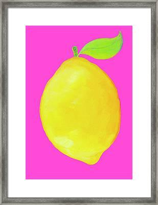 Lemon  Framed Print by Jan Matson