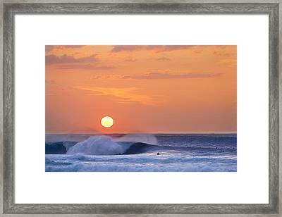 Lemon Yellow Sun Framed Print by Sean Davey