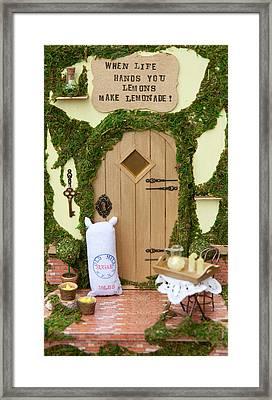 Lemons Fairy Door Framed Print