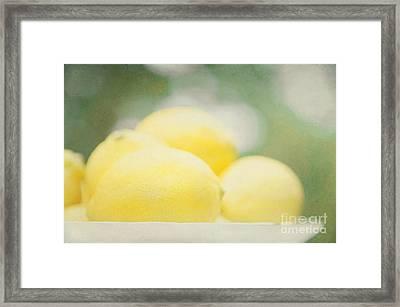 Lemons Framed Print by Kim Fearheiley