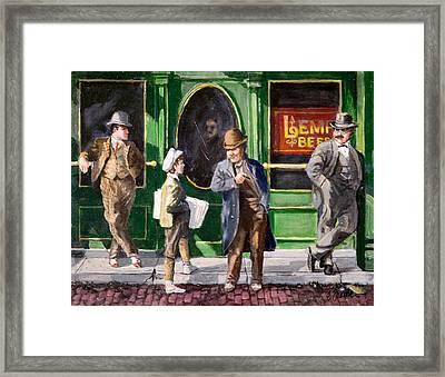 Lemp Beer Framed Print by Edward Farber
