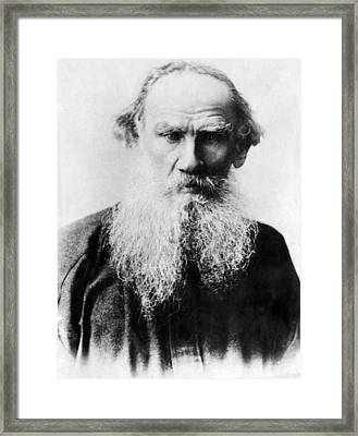 Leo Tolstoy 1828-1910, Russian Writer Framed Print by Everett