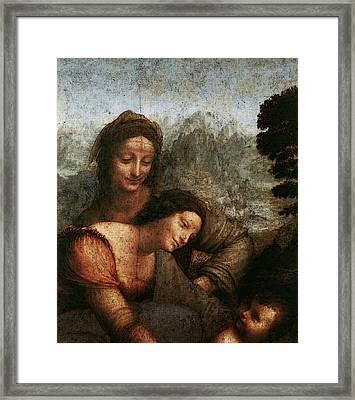 Leonardo Da Vinci The Virgin And Child With St Anne  Framed Print