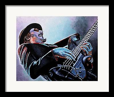 Bass Player Framed Prints