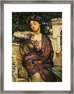 Lesbia And Her Sparrow   Framed Print by Edward John Poynter