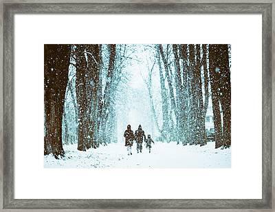 Let It Snow Framed Print by Marji Lang