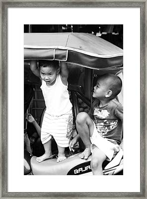 Let Me In Framed Print by Jez C Self