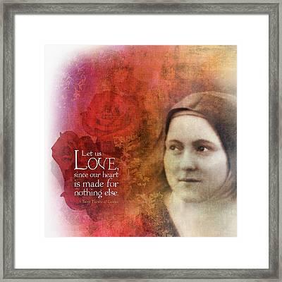 Let Us Love II Framed Print by Andy Schmalen