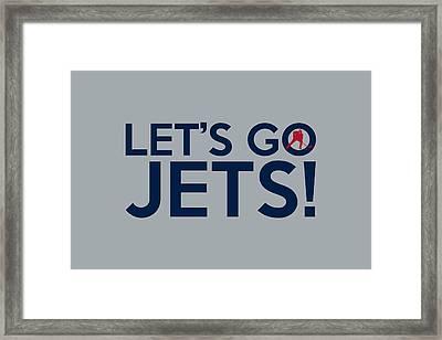 Let's Go Jets Framed Print by Florian Rodarte