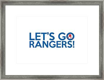 Let's Go Rangers Framed Print