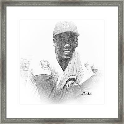 Ernie Banks Framed Print