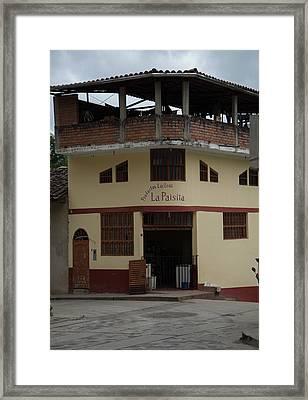 Leymebamba City Center Framed Print