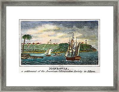 Liberia: Freed Slaves 1832 Framed Print by Granger