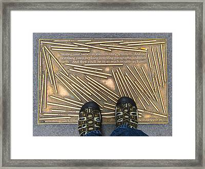 Library Way Framed Print