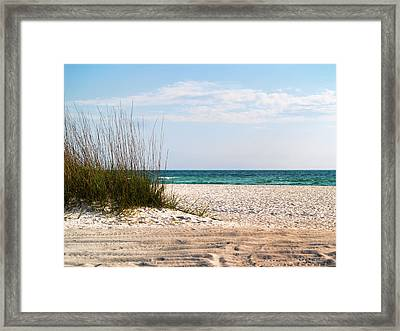 Framed Print featuring the photograph Lido Beach by Athala Carole Bruckner