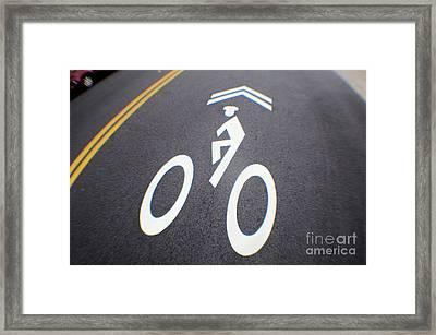 Life In The Bike Lane Framed Print