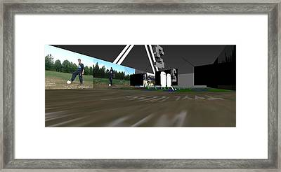Life Labyrinth 3d Virtual Interactive Media-art 2003  Framed Print by Jani Heinonen