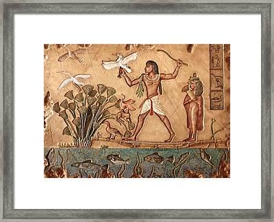 Life On The Nile Framed Print by Greg Coffelt