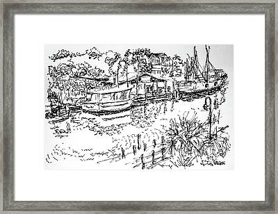 Life On The Water  Framed Print