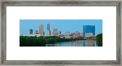 Light Blue Indianapolis Framed Print