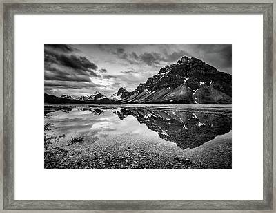 Framed Print featuring the photograph Light On The Peak by Jon Glaser