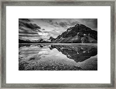 Light On The Peak Framed Print