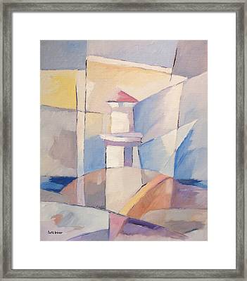 Lighthouse Abstraction Framed Print by Lutz Baar