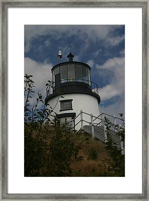 Lighthouse Framed Print by Dennis Curry