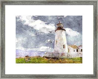 Lighthouse In Sun Framed Print