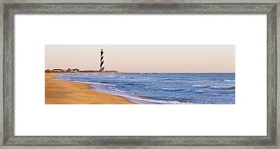 Lighthouse On The Beach, Cape Hatteras Framed Print by Panoramic Images