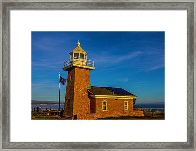 Lighthouse Point Framed Print by Garry Gay