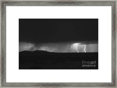 Lightning Storm Over Northern New Framed Print by Roth Ritter