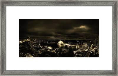 Lights Of Sydney Framed Print by Craig Hiron