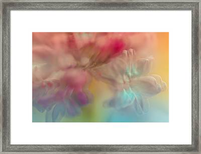 Lilac Floral Abstract 2. Watercolors Series Framed Print by Jenny Rainbow
