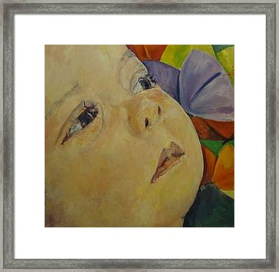 Lily And Butterflies Framed Print by Pamela A Fox