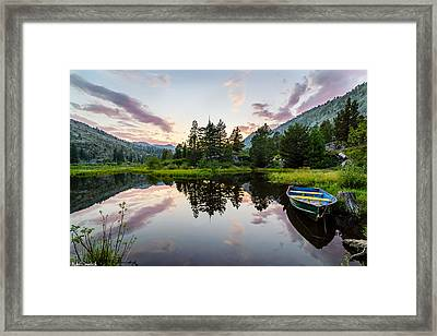 Lily Lake Framed Print by Mike Ronnebeck